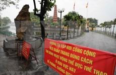 Los templos y pagodas en Hanoi durante los días de distanciamiento social por el brote de COVID-19