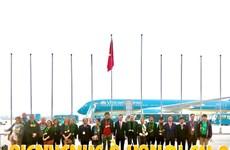 (Video) Hanoi da la bienvenida al primer visitante internacional que aterriza en 2020  