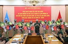 Otros 10 oficiales de Vietnam se incorporan a misiones de paz de ONU