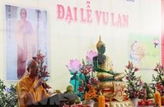 Ceremonia de gratitud filial Vu Lan: Compartir por la comunidad