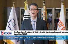 Director ejecutivo de la agencia surcoreana de noticias YONHAP envía congratulaciones a la VNA