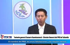 Director General del PRD de Tailandia envía congratulaciones a la VNA