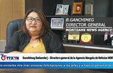 Directora general de MONTSAME (Mongolia) envía congratulaciones a la VNA