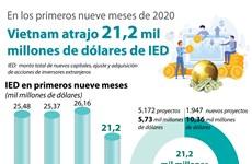 Vietnam atrajo 21,2 mil millones de dólares de IED en los primeros nueve meses