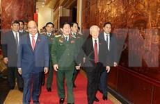 Secretario general del Partido Comunista y presidente de Vietnam participan en la XI Asamblea partidista del Comité partidita del Ejército