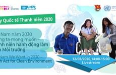 Jóvenes vietnamitas llaman a actuar a favor de un medioambiente verde