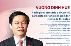 Vuong Dinh Hue, reelegido secretario del Comité partidista en Hanoi