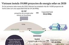 Vietnam instala 19.000 proyectos de energía solar en 2020