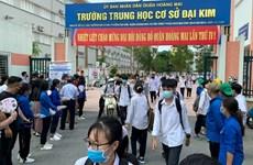 Vietnam refuerza medidas preventivas contra el COVID-19 en vísperas del examen final de bachillerato