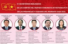 41 secretarios reelegidos de los comités del Partido Comunista de Vietnam