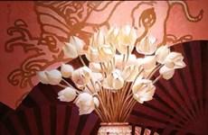 [Foto] Exhiben en Hanoi pinturas sobre flores nacionales de países de la ASEAN