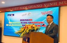 Promueven oportunidades de desarrollo y cooperación de Vietnam en comunidad francófona