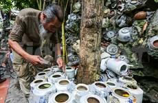 """El """"loco"""" señor Truong y la vivienda hecha de cerámica antigua única en provincia vietnamita de Vinh Phuc"""