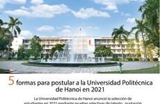 Universidad Politécnica de Hanoi anuncia selección de estudiantes