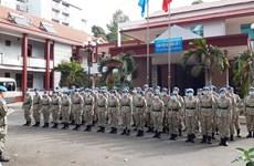 Hospital de campaña de segundo nivel número 3 de Vietnam en la última fase de formación