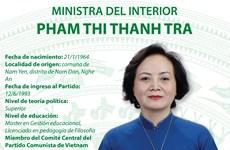 Pham Thi Thanh Tra designada Ministra del Interior
