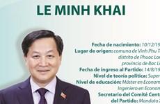 Le Minh Khai, nuevo viceprimer ministro de Vietnam