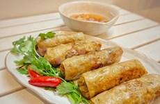 Receta del rollito de primavera frito de Vietnam