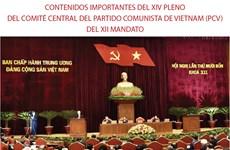 Amplia agenda del XIV Pleno del Comité Central del Partido Comunista de Vietnam