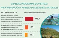 Grandes programas para prevención y manejo de desastres naturales en Vietnam