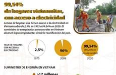El 99,54 por ciento de la hogares en Vietnam, con acceso a la electricidad