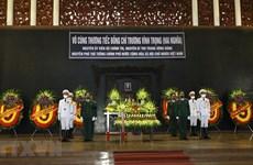 Acto de homenaje póstumo a exviceprimer ministro Truong Vinh Trong