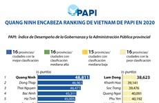 Ranking del Índice de Desempeño de la Gobernanza y la Administración Pública provincial de Vietnam