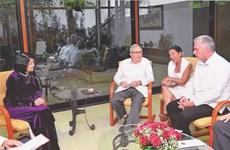 [Fotos] Reciben máximos dirigentes de Cuba a vicepresidenta vietnamita