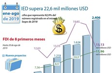 [Info] IED de Vietnam superó 22 mil millones de dólares entre enero y agosto
