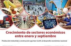 [Info] Crecimiento de sectores económicos en primeros nueve meses