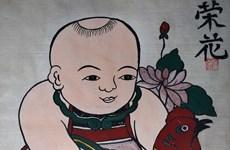 [Foto] Solicitará Vietnam reconocimiento de pintura folclórica como patrimonio intangible