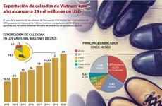 [Info] Exportación de calzados de Vietnam en 2020 alcanzaría 24 mil millones de dólares