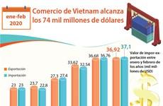 [Info] Comercio de Vietnam entre entre enero y febrero de 2020