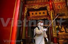 [Foto] Hanoi realiza desinfección en sitios turísticos para prevenir contagio de COVID-19