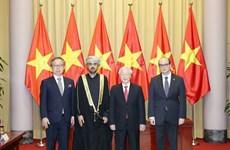 [Foto] Secretario General del Partido Comunista y Presidente da bienvenida a los nuevos embajadores