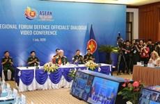 [Foto] ASEAN 2020: Teleconferencia de funcionarios de defensa de ARF en Hanoi
