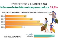 [Info] Recude 55,8% número de turistas extranjeros