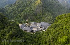 [Foto] Descubra complejo de manantial mineral de estilo japonés en Quang Ninh