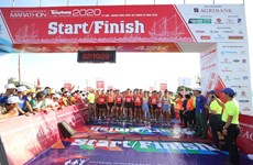 [Foto] Competencia de maratón en la isla de Ly Son