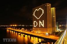 [Foto] Da Nang ilumina imagen del corazón para alentar esfuerzos conjuntos en lucha contra COVID-19