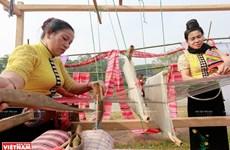 [Foto] Tejido de brocado tradicional de la etnia Thai