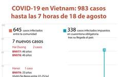 [Info] Vietnam reporta siete nuevos casos de COVID-19