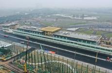 [Foto] Primer plano de la pista de carreras F1 en Hanoi en su última fase de construcción
