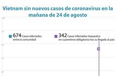 [Info] Vietnam sin nuevos casos de coronavirus en la mañana de 24 de agosto