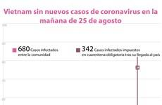 [Info] Vietnam sin nuevos casos de coronavirus en la mañana de 25 de agosto
