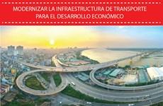 Modernizan la infraestructura de transporte para el desarrollo económico