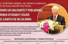 Todos los militantes y pobladores deben estudiar y seguir el ejemplo de Ho Chi Minh