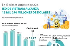 IED de Vietnam alcanza 15 mil 270 millones de dólares