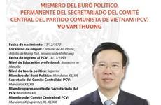 Vo Van Thuong, designado como miembro permanente del Secretariado del Comité Central del PCV