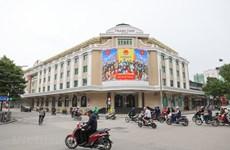 Calles de Hanoi decoradas con banderas en vísperas de las elecciones legislativas